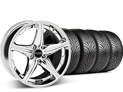 Chrome Foose Speed Wheel & Sumitomo Tire Kit - 18x9.5 (05-14 GT, V6)