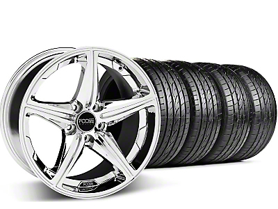 Foose Staggered Speed Chrome Wheel & Sumitomo Tire Kit - 19x8.5/9.5 (05-14 GT, V6)