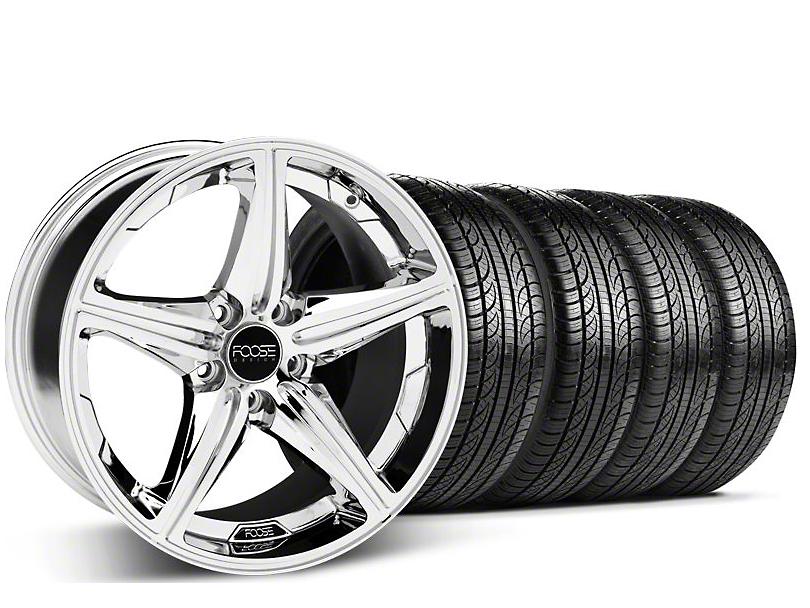 Foose Speed Chrome Wheel & Pirelli Tire Kit - 19x8.5 (05-14 GT, V6)