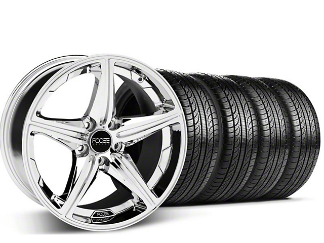 Foose Speed Chrome Wheel & Pirelli Tire Kit - 19x8.5 (05-14 GT, V6)