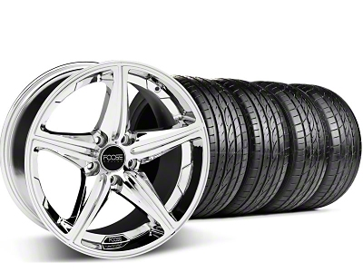 Foose Staggered Speed Chrome Wheel & Sumitomo Tire Kit - 20x8.5/10 (05-14 GT, V6)