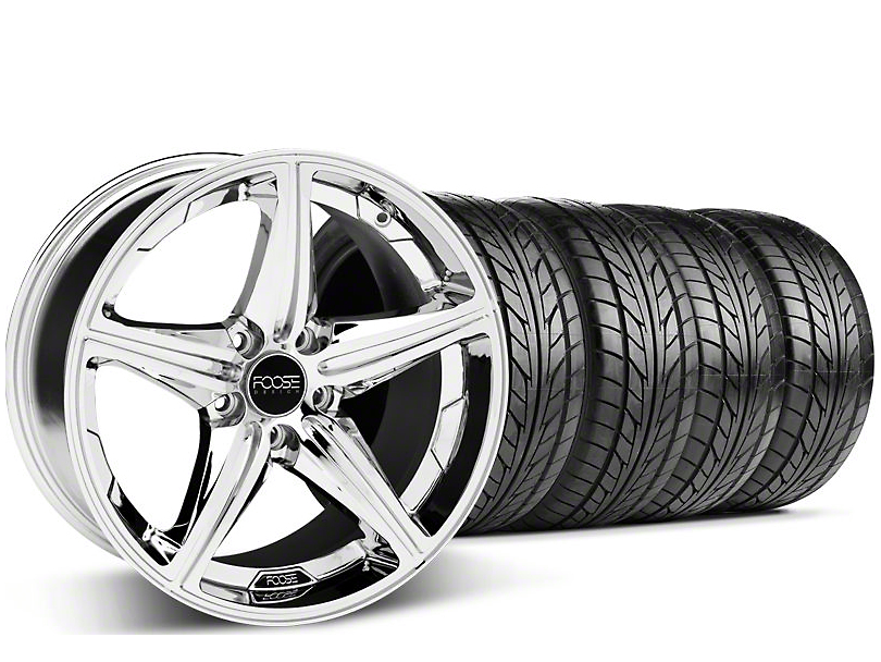 Foose Speed Chrome Wheel & NITTO Tire Kit - 20x8.5 (05-14 GT, V6)