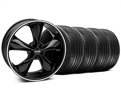 Foose Legend Black Legend Wheel & Sumitomo Tire Kit - 20x8.5 (05-14 GT, V6)