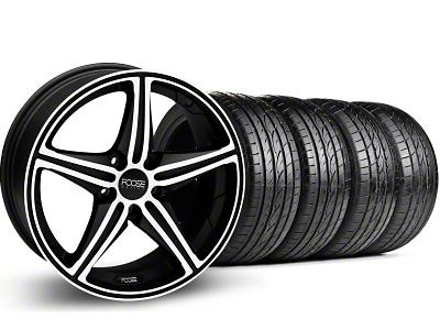 Foose Speed Black Machined Wheel & Sumitomo Tire Kit - 18x8 (05-14 GT, V6)