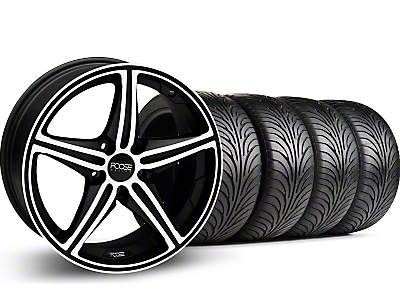 Black Machined Foose Speed Wheel & Sumitomo Tire Kit - 18x9.5 (05-14 GT, V6)
