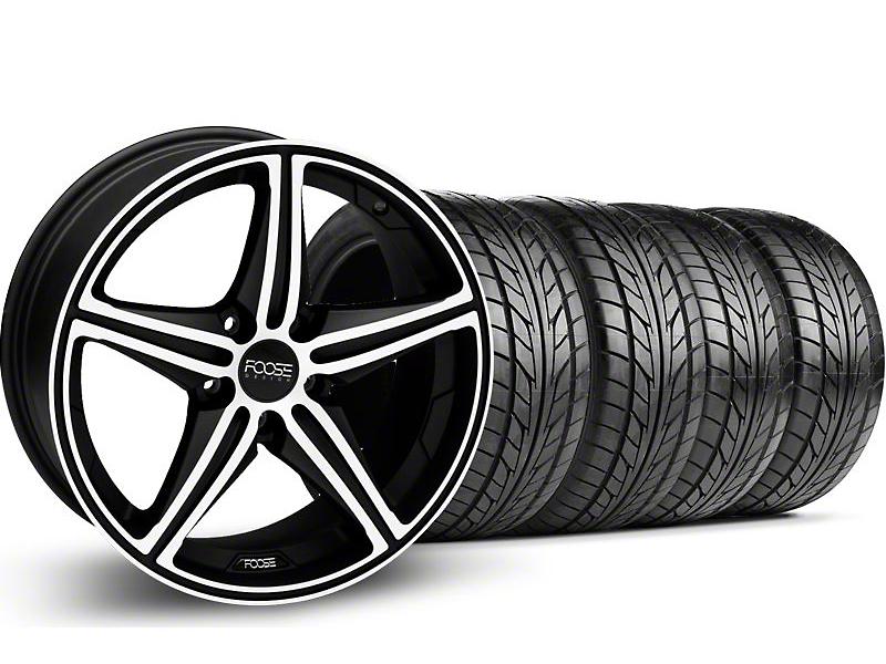 Foose Speed Black Machined Wheel & NITTO Tire Kit - 18x9.5 (05-14 GT, V6)