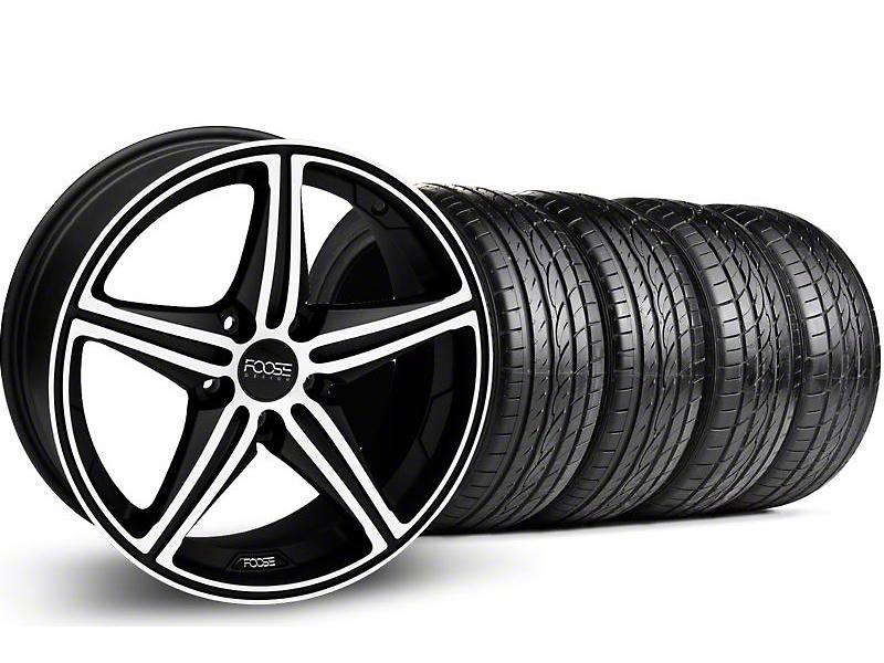 Foose Speed Black Machined Wheel & Sumitomo Tire Kit - 19x8.5 (05-14 GT, V6)