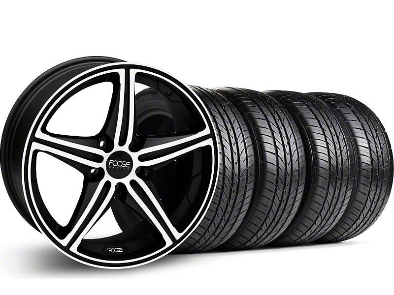 Foose Speed Black Machined Wheel & Pirelli Tire Kit - 19x9.5 (05-14 GT, V6)