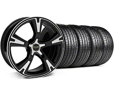 Staggered Black Machined Foose RS Wheel & Sumitomo Tire Kit - 20x8.5/10 (05-13 All)