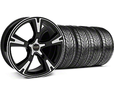 Foose Staggered Black Machined RS Wheel & NITTO Tire Kit - 20x8.5/10 (05-13 All)