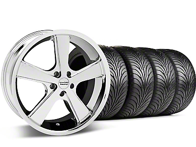 Chrome American Racing Nova Wheel & Sumitomo Tire Kit - 18x9 (05-14 GT, V6)