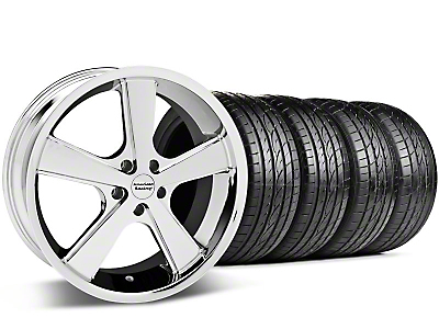 Staggered Nova Chrome Wheel & Sumitomo Tire Kit - 20x8.5/10 (05-14 GT, V6)