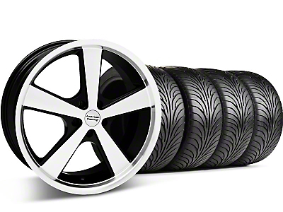 Black Machined American Racing Nova Wheel & Sumitomo Tire Kit - 18x9 (05-14 GT, V6)