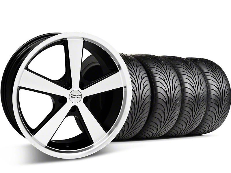 Nova Black Machined Wheel & Sumitomo Tire Kit - 18x9 (05-14 GT, V6)