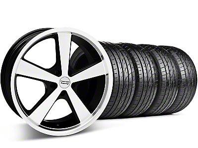 Staggered Black Machined Nova Wheel & Sumitomo Tire Kit - 20x8.5/10 (05-14 GT, V6)