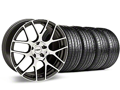 Staggered Gunmetal TSW Nurburgring Wheel & Sumitomo Tire Kit - 19x8.5/9.5 (05-14 All)