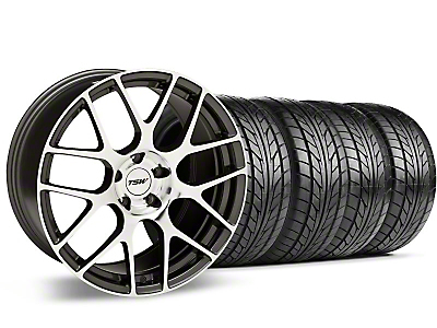 Staggered Gunmetal TSW Nurburgring Wheel & NITTO Tire Kit - 20x8.5/10 (05-14 All)