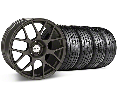 Staggered Matte Gunmetal TSW Nurburgring Wheel & Sumitomo Tire Kit - 19x8.5/9.5 (05-14 All)