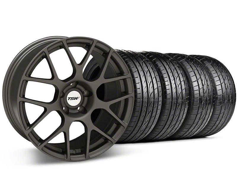 TSW Nurburgring Matte Gunmetal Wheel & Sumitomo Tire Kit - 20x8.5 (05-14 GT, V6)