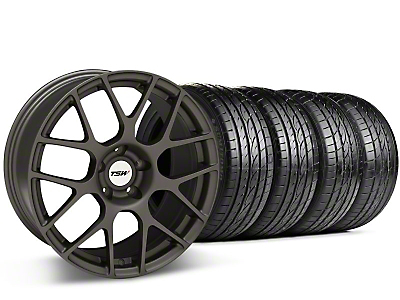 TSW Staggered Nurburgring Matte Gunmetal Wheel & Sumitomo Tire Kit - 20x8.5/10 (05-14 All)