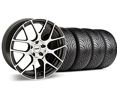 Staggered Gunmetal TSW Nurburgring Wheel & Sumitomo Tire Kit - 18x8/9 (94-98 All)