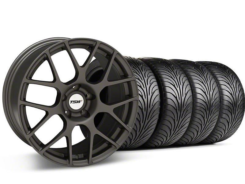 TSW Staggered Nurburgring Matte Gunmetal Wheel & Sumitomo Tire Kit - 18x8/9 (94-98 All)