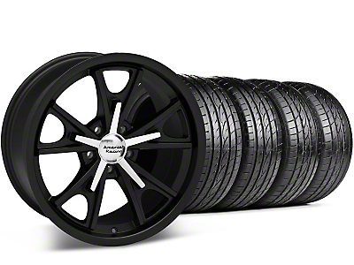 Staggered Matte American Racing Black Daytona Wheel & Sumitomo Tire Kit - 20x8.5/9.5 (05-14 GT, V6)