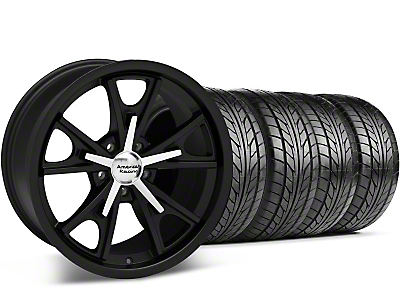 Staggered Daytona Matte Black Wheel & NITTO Tire Kit - 20x8.5/9.5 (05-14 GT, V6)
