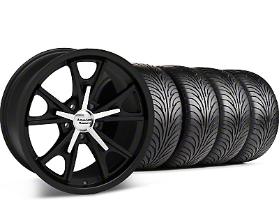 Matte Black American Racing Daytona Wheel & Sumitomo Tire Kit - 18x9 (99-04 All)