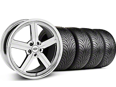 Staggered Chrome Huntington Bolsa Wheel & Sumitomo Tire Kit - 18x9/10 (05-14 GT, V6)