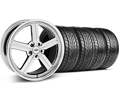 Staggered Chrome Huntington Bolsa Wheel & NITTO Tire Kit - 18x9/10 (05-14 GT, V6)