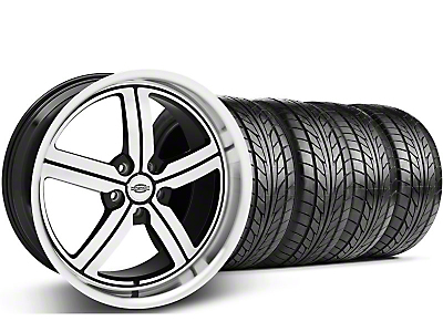 Staggered Machined Huntington Bolsa Wheel & NITTO Tire Kit - 18x9/10 (05-13 GT, V6)