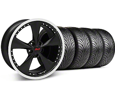 Staggered Matte Black Bravado Americana II Wheel & Sumitomo Tire Kit - 18x9/10 (05-14 GT, V6)