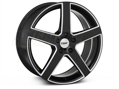 Black Machined TSW Rivage Wheel - 19x8 (05-14 All)
