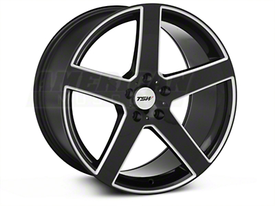Black Machined TSW Rivage�Wheel - 19x9.5 (05-14 All)