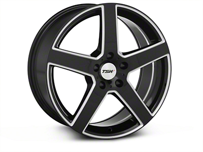 Black Machined TSW Rivage Wheel - 18x8 (94-04 All)