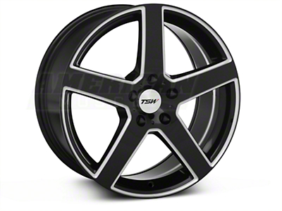 Black Machined TSW Rivage�Wheel - 18x8 (05-14 All)