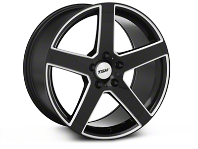Black Machined TSW Rivage�Wheel - 18x9.5 (05-14 All)