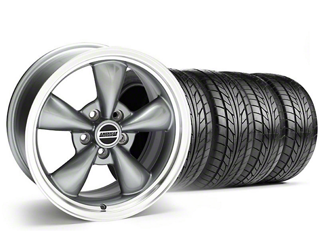 Bullitt Anthracite Wheel & NITTO Tire Kit - 18x8 (99-04 All)