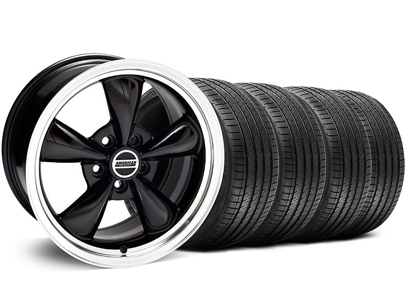Bullitt Black Wheel & Sumitomo Tire Kit - 18x8 (05-14 GT, V6)
