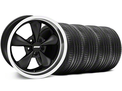 Bullitt Matte Black Wheel & Sumitomo Tire Kit - 18x8 (94-98 All)