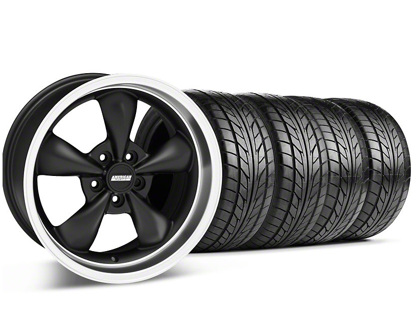 Bullitt Matte Black Wheel & NITTO Tire Kit - 18x8 (99-04 All)