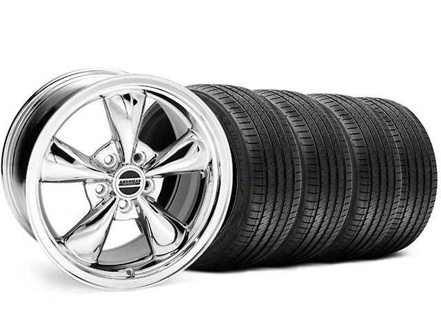 Bullitt Chrome Wheel & Sumitomo Tire Kit - 18x8 (99-04 All)