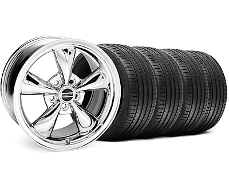 Bullitt Chrome Wheel & Sumitomo Tire Kit - 18x8 (05-14 GT, V6)