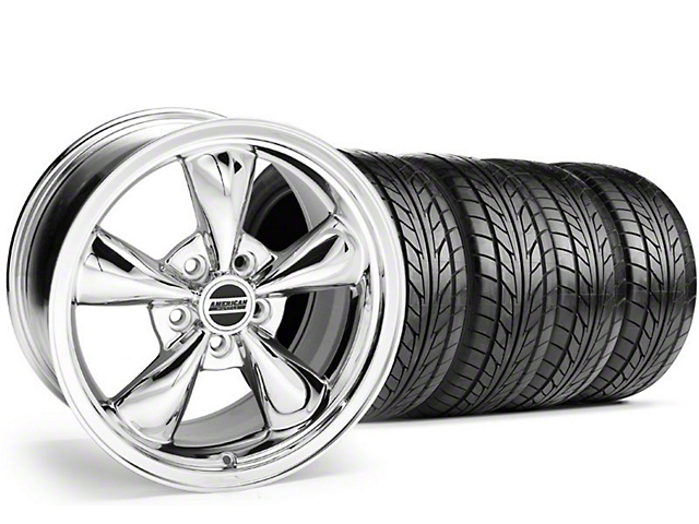 Bullitt Chrome Wheel & NITTO Tire Kit - 18x8 (99-04 All)