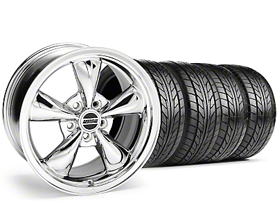 Chrome Bullitt Wheel & Nitto Tire Kit - 18x8 (99-04 All)