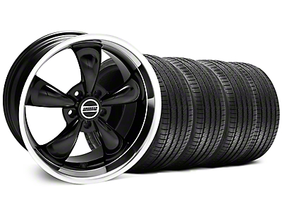 Staggered Black Bullitt Wheel & Sumitomo Tire Kit - 18x9/10 (99-04 All)