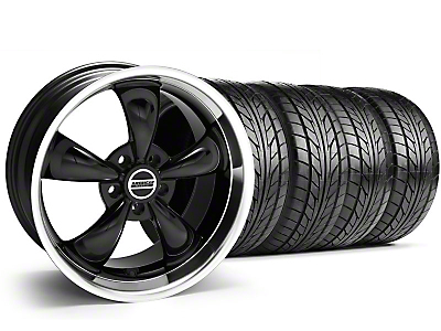 Staggered Bullitt Black Wheel & NITTO Tire Kit - 18x9/10 (99-04 All)