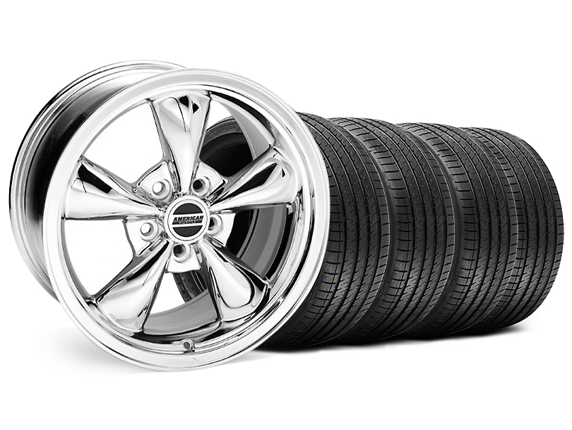 Staggered Bullitt Chrome Wheel & Sumitomo Tire Kit - 18x9/10 (94-98 All)