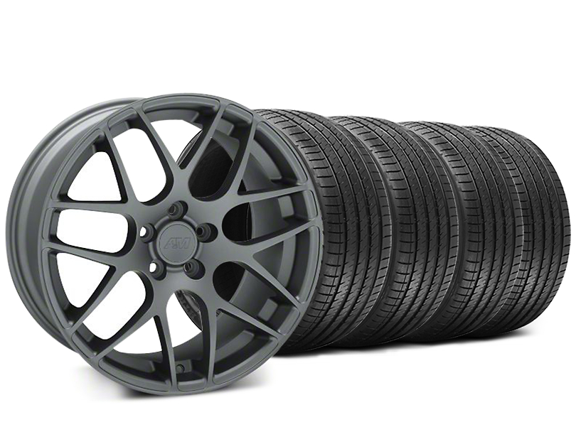 AMR Charcoal Wheel & Sumitomo Tire Kit - 18x8 (94-98 All)